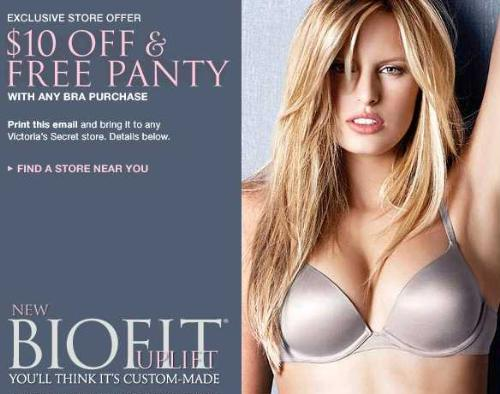 picture about Victoria Secret 10 Off Bra Printable Coupon identify Dealspl victoria key : Large eagle coupon coverage erie pa