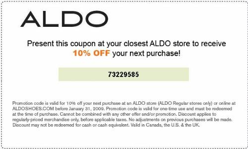 aldo shoes coupons 20% off