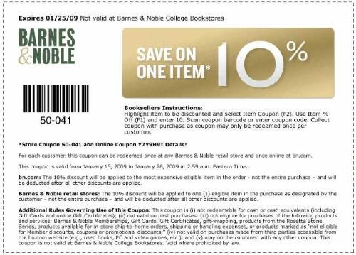 Couponchief barnes and noble