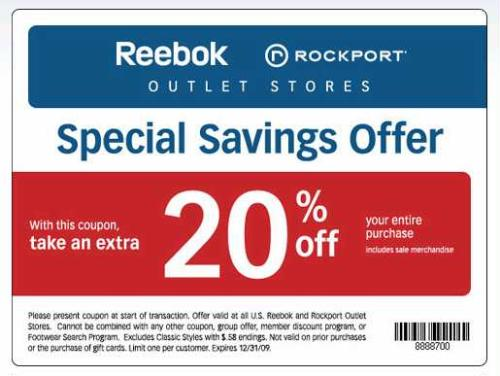 reebok outlet coupons