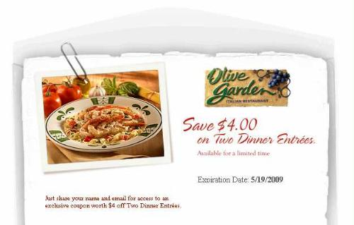 Olive Garden Coupon Codes Free Shipping