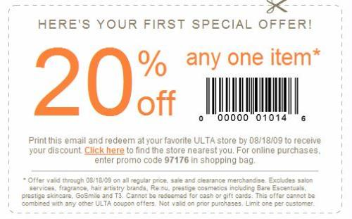Ulta coupon code 20 off entire order