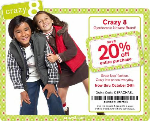 Crazy eight coupon code 2018