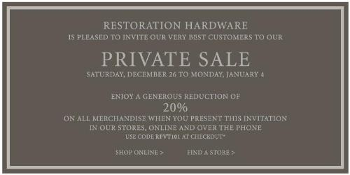 To redeem a Giving Assistant coupon for Restoration Hardware, click on the big red button in one of the coupon boxes on the Restoration Hardware page of Giving Assistant. When the coupon appears, if there's a Promo Code, click on the Copy button next to the Promo Code, or .