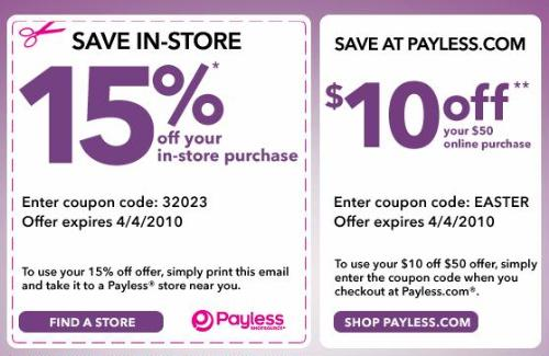 payless shoes printable coupons september 2012