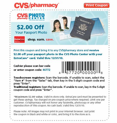 cvs passport photo coupon printable   target coupon code