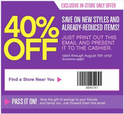 Reebok outlet stores 40 off purchase coupon