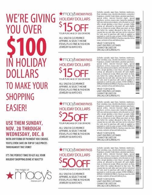 Macy's christmas eve coupons